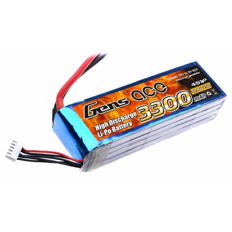 LiPo Akku 3300mAh 4S1P 14,8V 25C mit T-Stecker