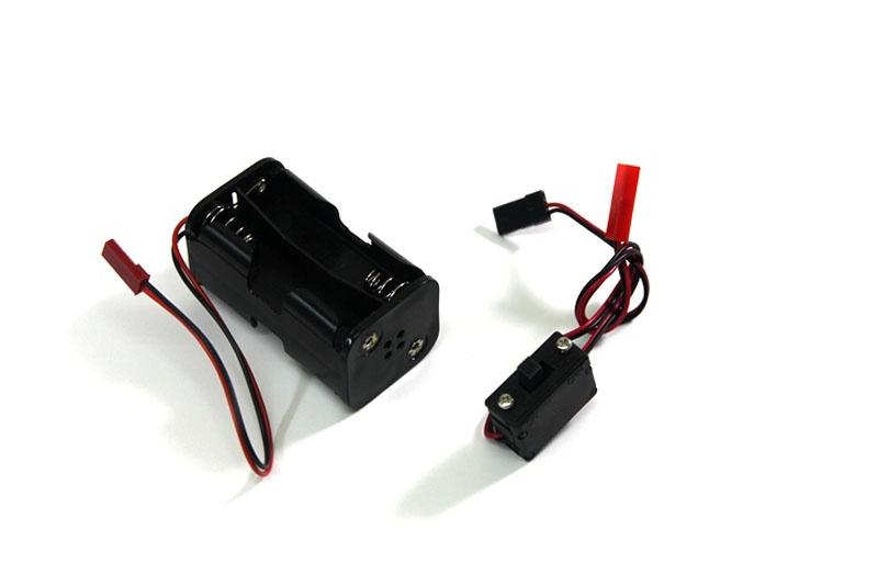 Batteriebox mit Schalter f. Mignonzellen