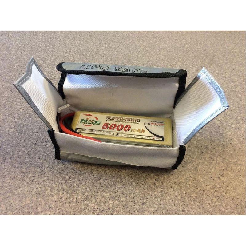 Schutztasche für LiPo Akku 185x75x60mm