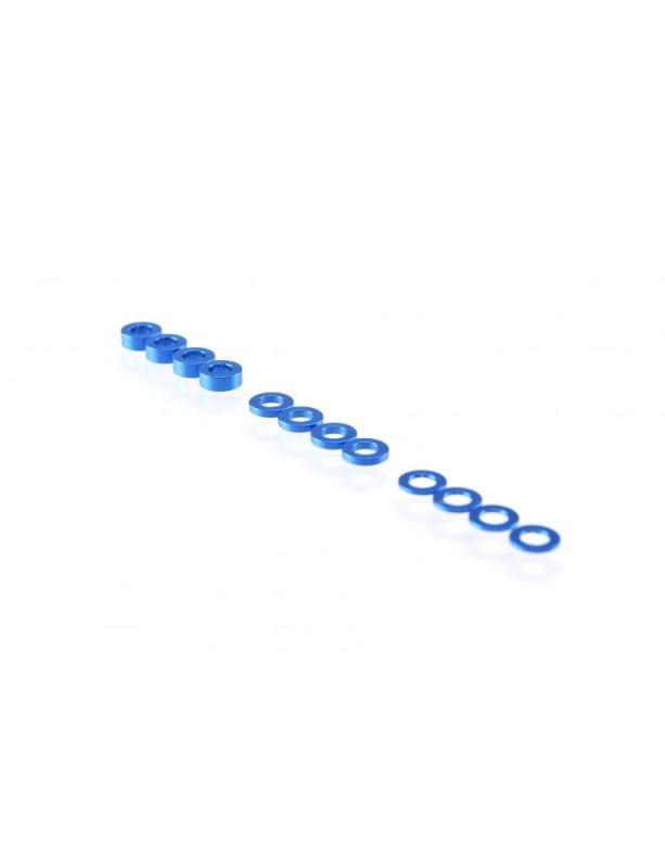 3mm Washer Set dunkel blau (0.5mm/1.0mm/2.0mm)