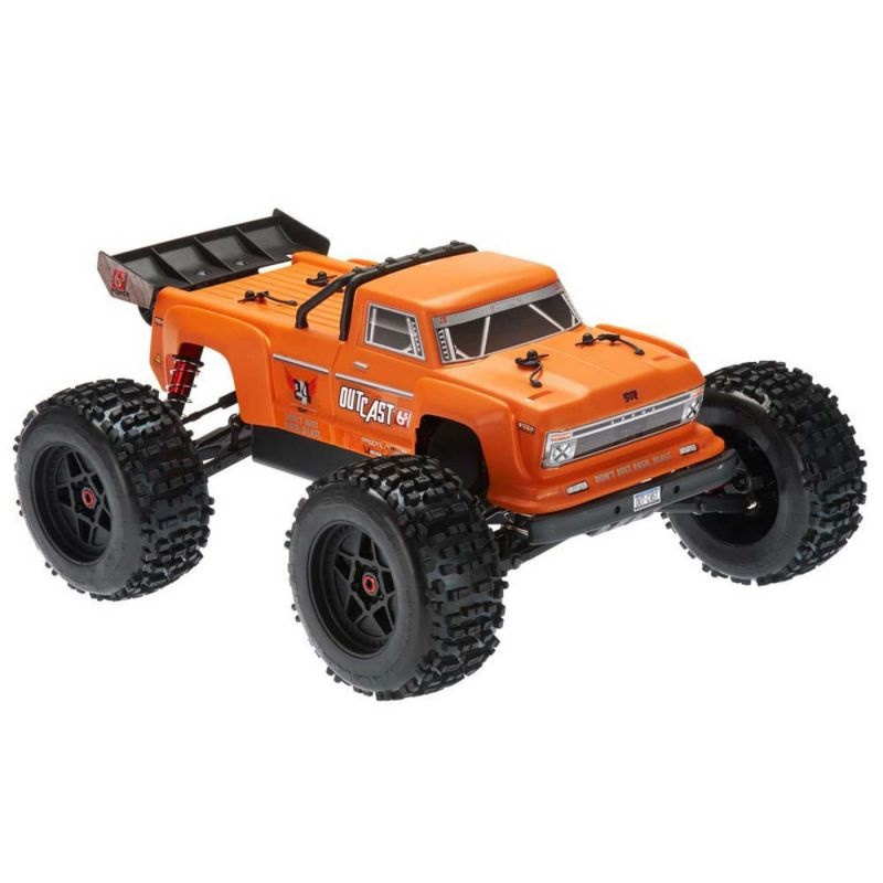 OUTCAST 6S BLX 4WD Brushless Stunt Truck RTR, orange