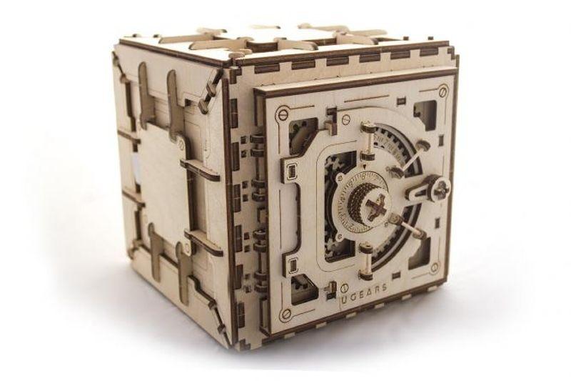 Safe mit Zahlenschloss - 3D Holz Modellbausatz