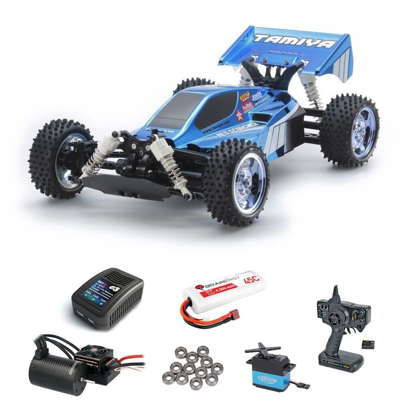 Neo Scorcher Blue Metallic 4WD Buggy Brushless Komplettset