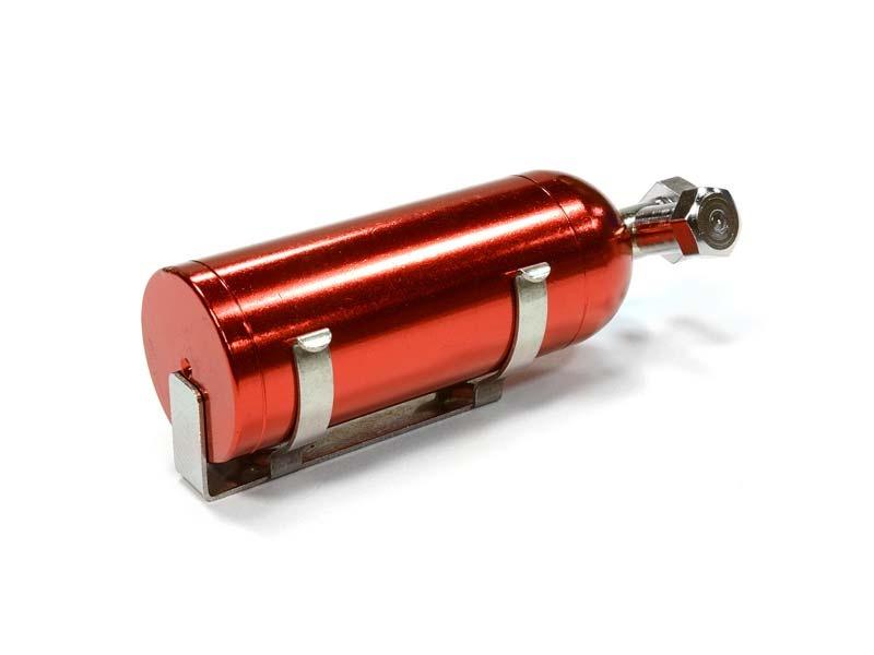 Realistic 1/10 Scale Alu Lachgas Flasche mit Halterung rot