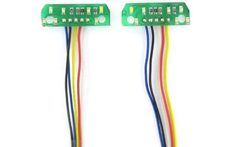 7-Kammer LED-Platine Uni 7,2V 1:14
