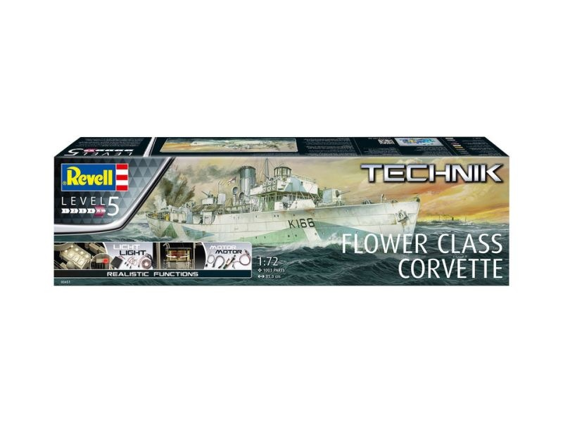 Flower Class Corvette - Technik Bausatz 1/72 mit Elektronik
