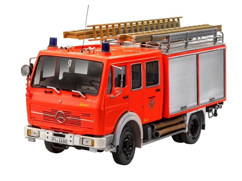 Mercedes-Benz 1017 LF 16 Feuerwehr Fahrzeug 1:24 Bausatz