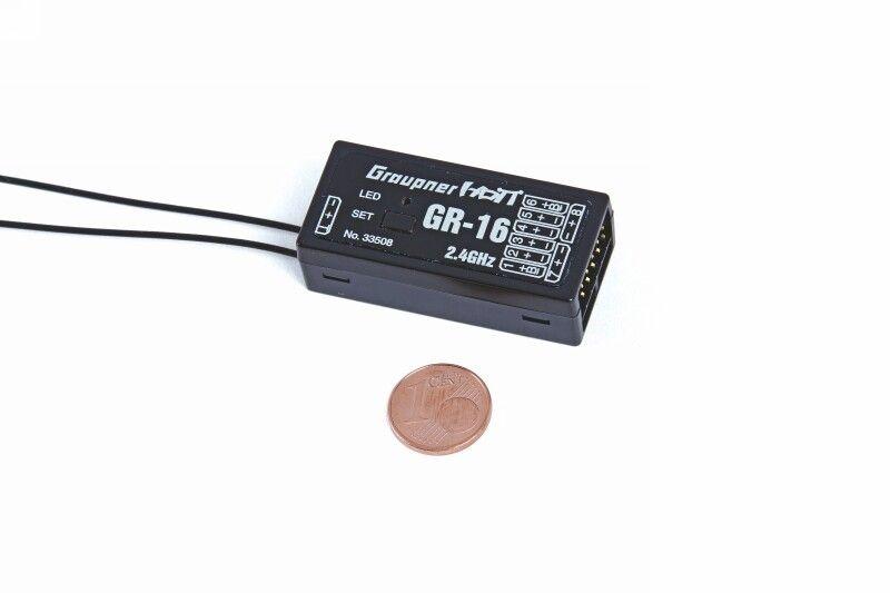 Empfänger GR-16 HoTT2.4 GHz 8 Kanal