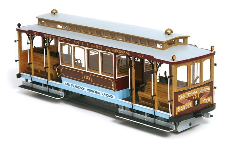 San Francisco Tram 1:24 Straßenbahn Bausatz