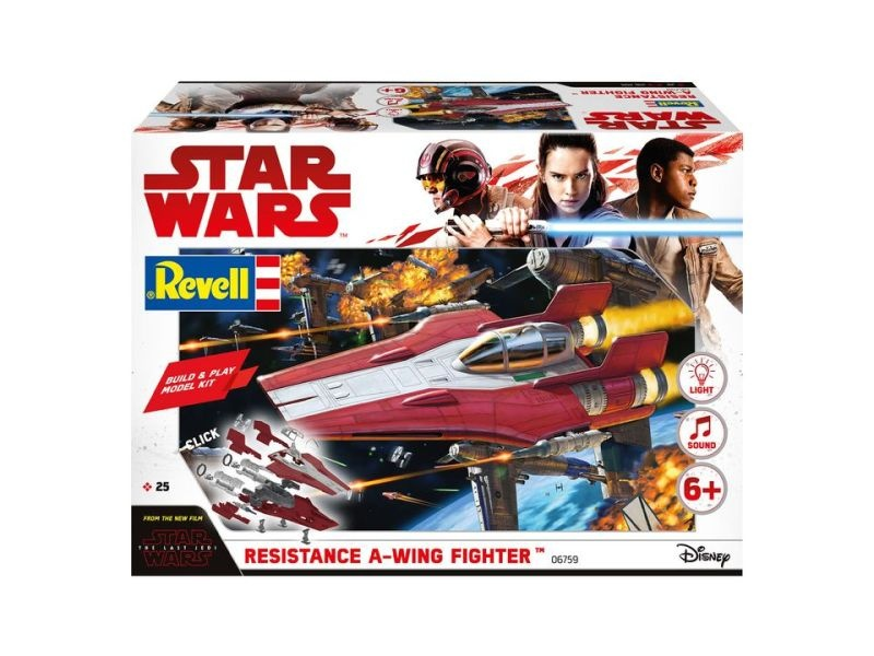 STAR WARS  Resistance A-Wing Fighter, Red - Build and Play