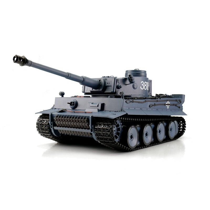 Tiger I grau BB+IR 1:16 RC Panzer 2.4GHz RTR