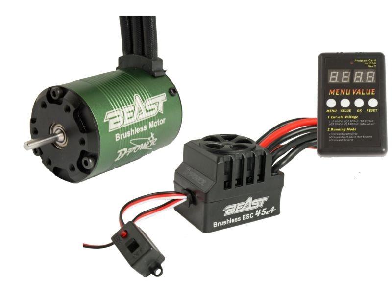 BEAST Combo FUN, 4P 3650-3450KV BL Motor & 45A BL ESC