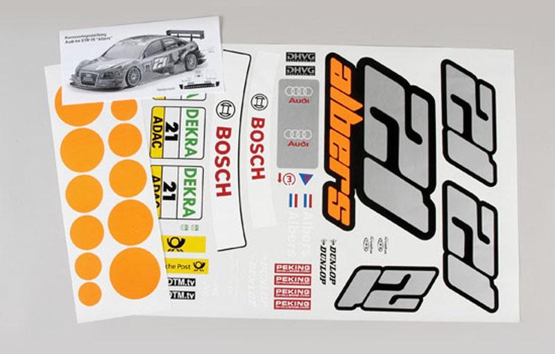 Team-Aufkleber Audi A4 DTM Albers - Set