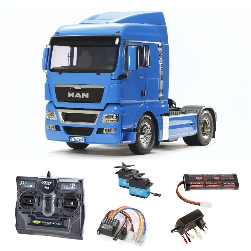 MAN TGX 18.540 4x2 XLX - French Blue 2,4GHz Komplettset