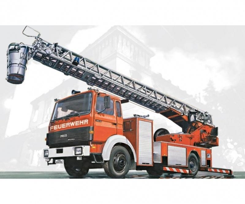Iveco Magirus DLK 23-12 mit Feuerleiter 1/24 Bausatz