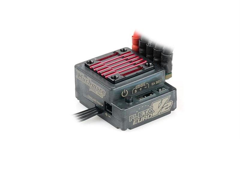 Fleta V2 Euro Brushless Regler 80A - Schwarz/Rot