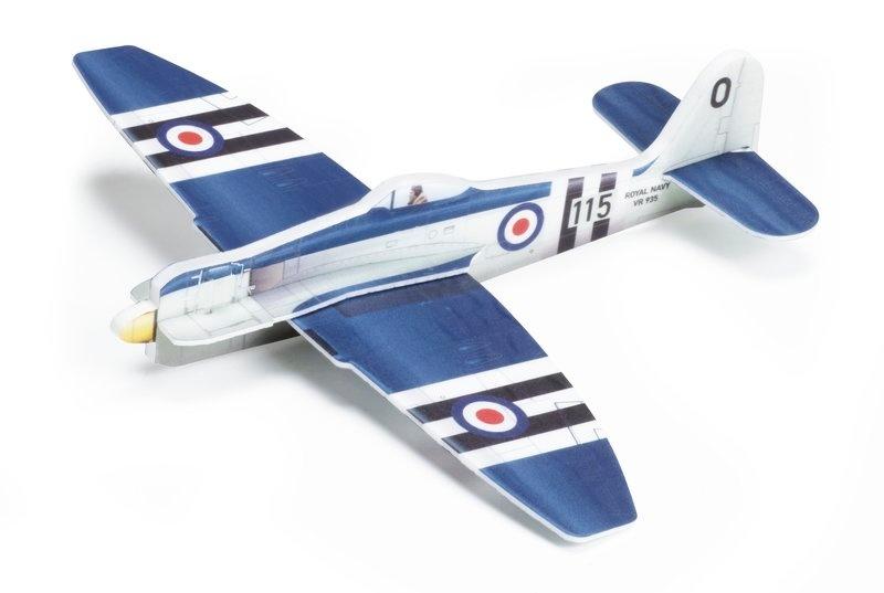 Vector Plane Hawker Seafury Royal Navy 380mm Bausatz