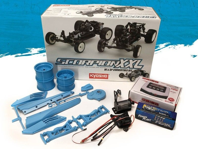 SCORPION XXL 2WD Buggy 1:7 VE Blue Edition Brushless Kit