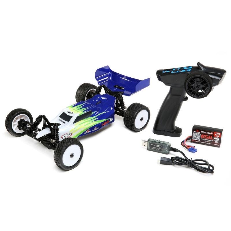Mini-B 2WD Buggy 1:16 Brushed 2,4GHz RTR, blau/weiß