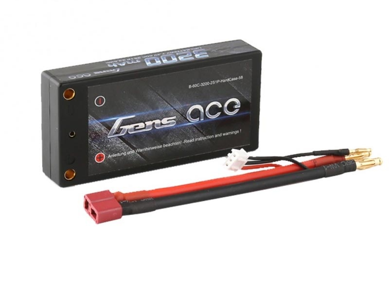 Lipo Akku 3200mAh 7.4V 60C 2S1P Shorty Low-Profile
