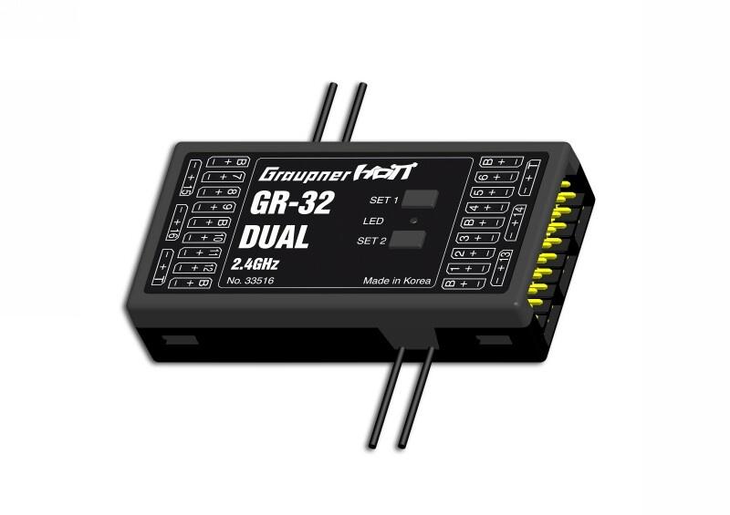 Empfänger GR-32 HoTT2.4 GHz Dual 16 K.