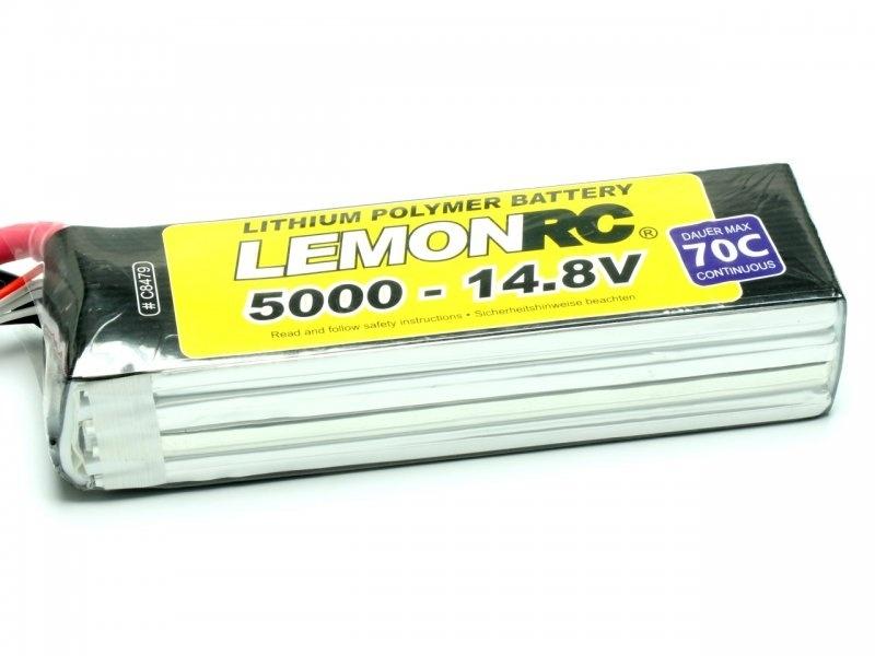 LiPo Akku LemonRC 4S 5000mAh 14,8V 70C