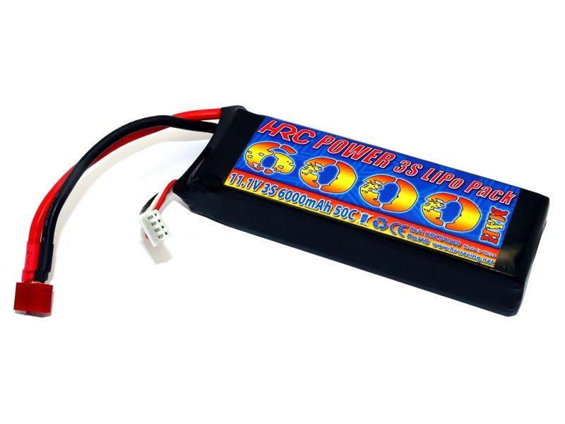 LiPo Akku 6000mAh 3S 11,1V 50C/100C mit T-Stecker