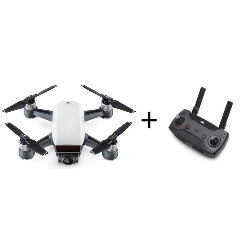 Spark Selfie Drohne Alpinweiß Bundle + Fernsteuersender