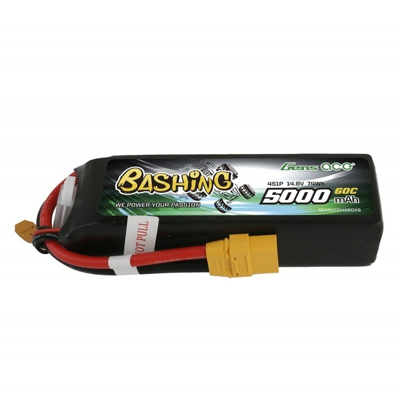 Bashing 5000mAh 14.8V 4S1P 60C Lipo Akku XT90 Stecker