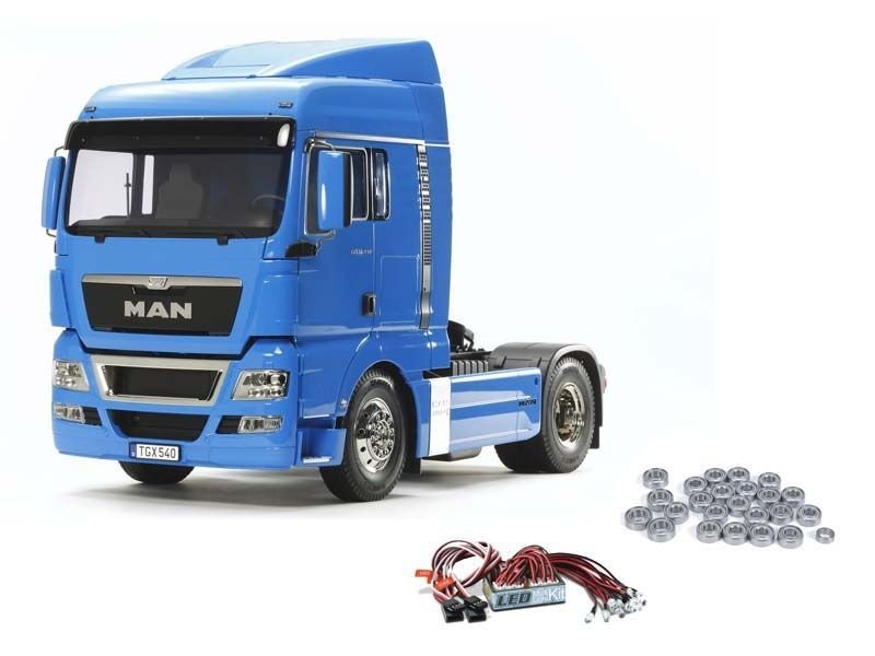 MAN TGX 18.540 4x2 XLX - French Blue + Kugellager, LED-Licht