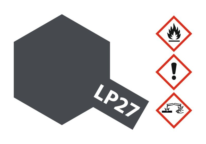 LP-27 Dt. Grau matt Kunstharzfarbe 10ml