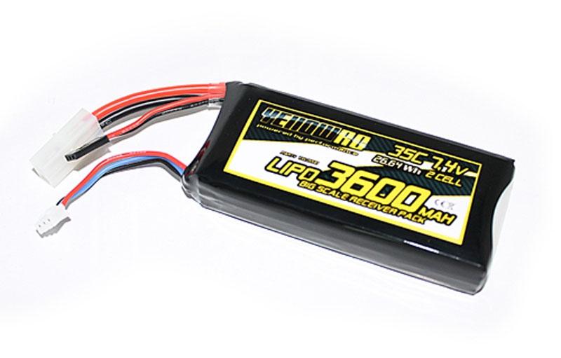 Losi 5ive-T receiverPack, Lipo 3600mAh 7.4V