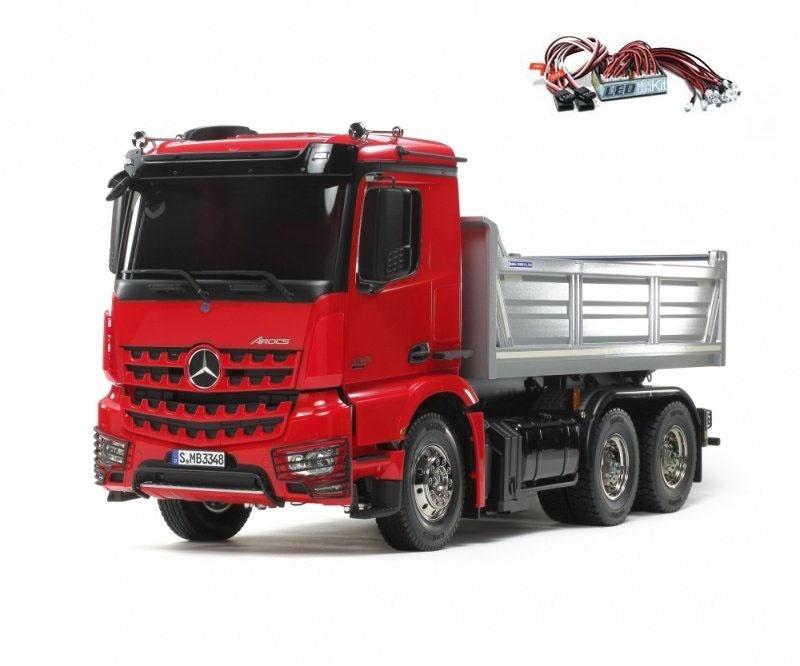 MB Arocs 3348 1:14 Muldenkipper Truck 6x4 Bausatz rot/silber