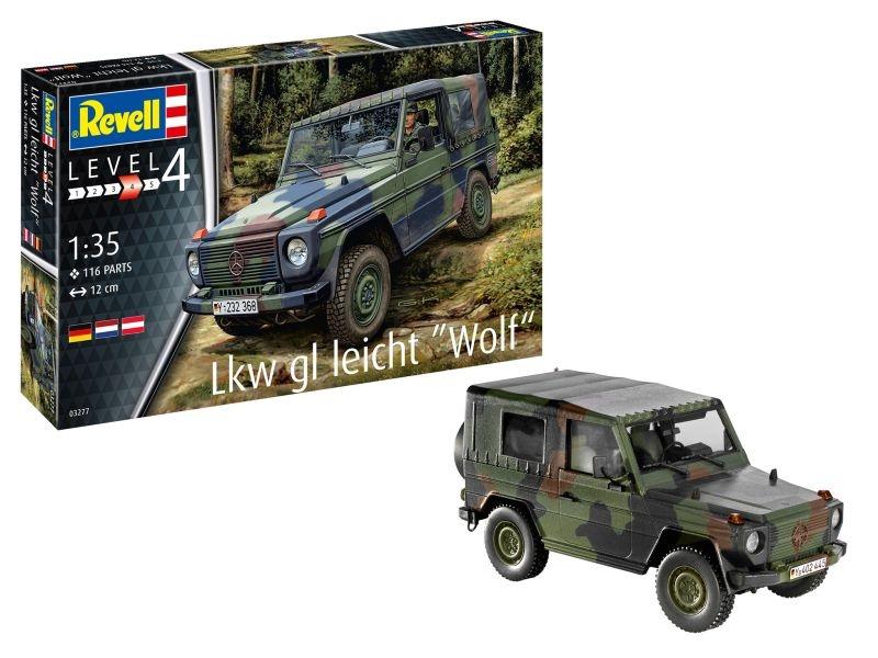 Lkw gl leicht Wolf 1:35 Geländewagen Plastik Bausatz