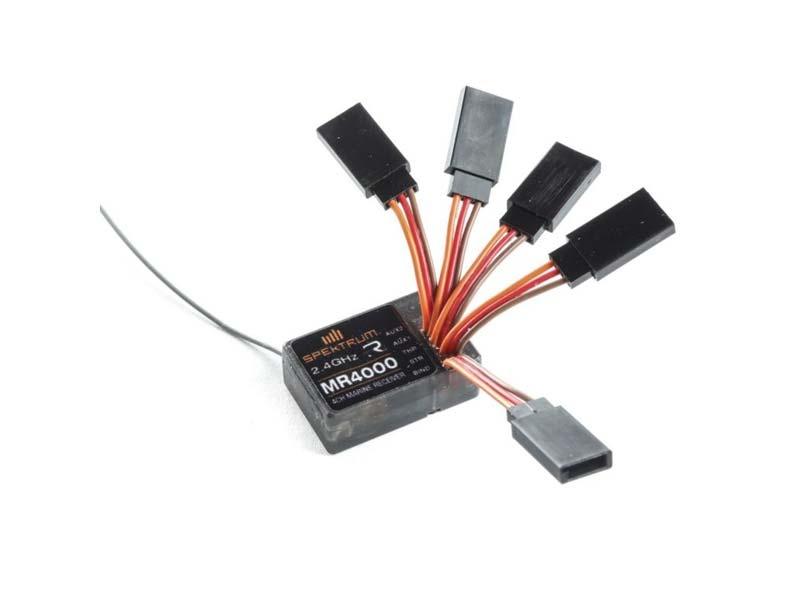 Spektrum MR4000 DSMR 4-Kanal Marine Empfänger 2,4GHz