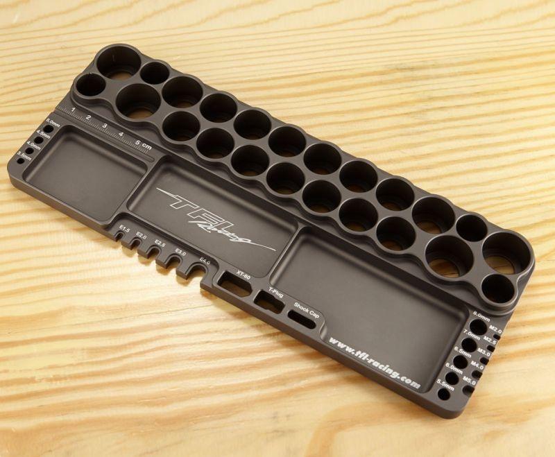 CNC Aluminium Werkzeugstand mit Löthilfe und Messlehre