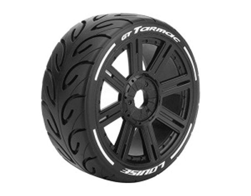 GT-Tarmac 1/8 Buggy Reifen Supersoft auf Felge schwarz 17mm