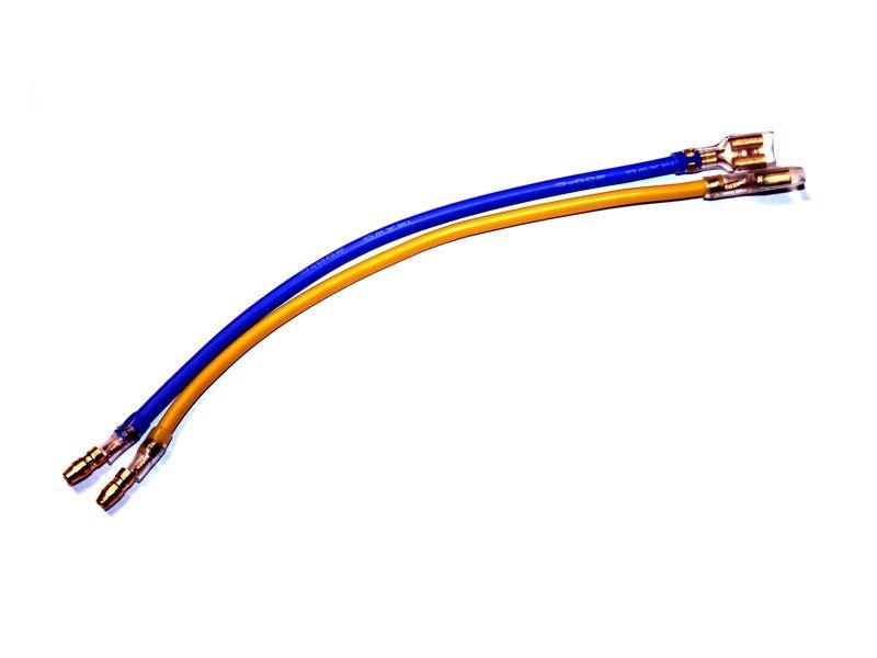 Motoranschlusskabel Set mit Kabelschuh und 4mm Goldstecker
