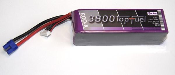TopFuel LiPo 20C-ECO-X 3800mAh 5S