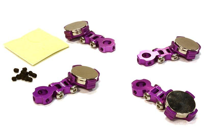 Einstellbare Magnet Karosseriehalter purple für 1/10 Drift