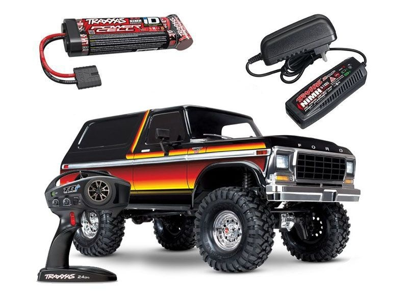 TRX-4 Ford Bronco XLT 1/10 Scale Crawler RTR + Akku + Lader