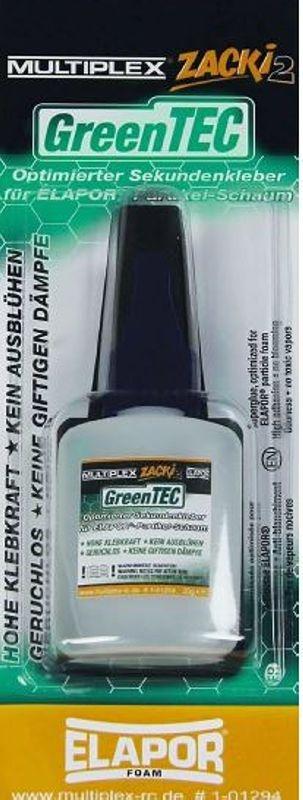 1-01293 Multiplex Sekundenkleber Zacki2 Greentec 12g