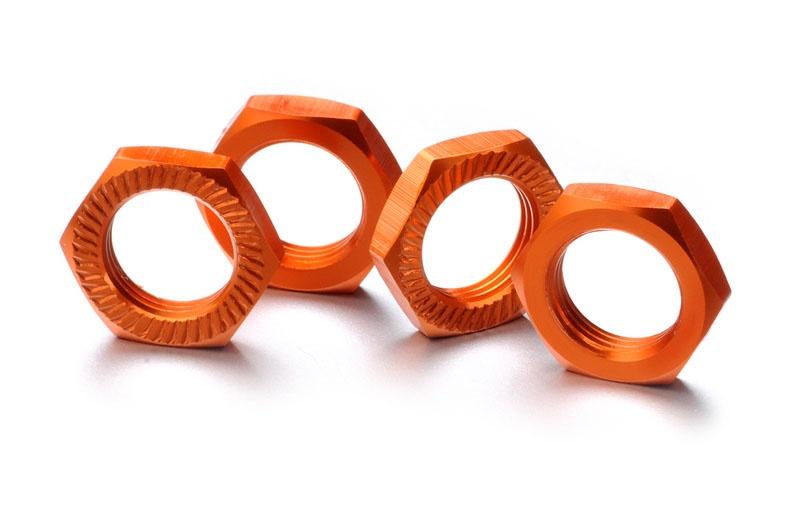 Radmutter selbstsichernd 17mm orange (4 St.)