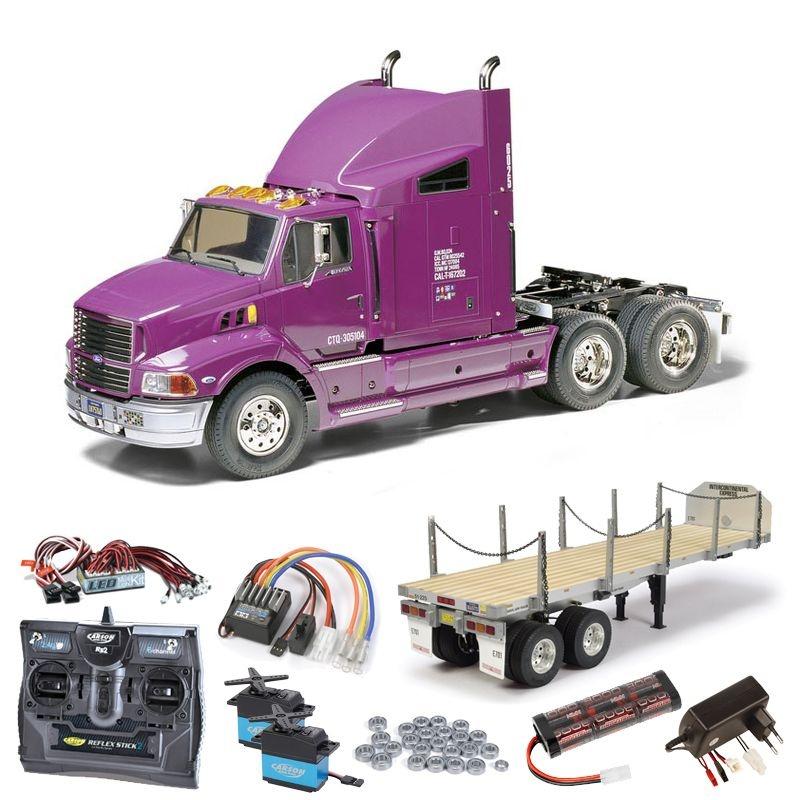Truck Ford Aeromax komplett inkl. Flachbett, LED, Kugellager