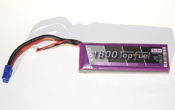 TopFuel LiPo 25C-ECO-X 1800mAh 2S