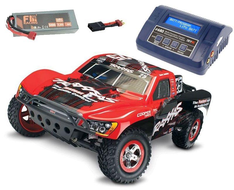 Slash VXL 1/10 +TSM SC Racing Truck Brushless + LiPo & Lader