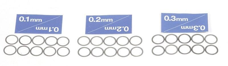 Distanzscheiben Set 10mm Passscheiben 30 Stück 0,1 0,2 0,3mm