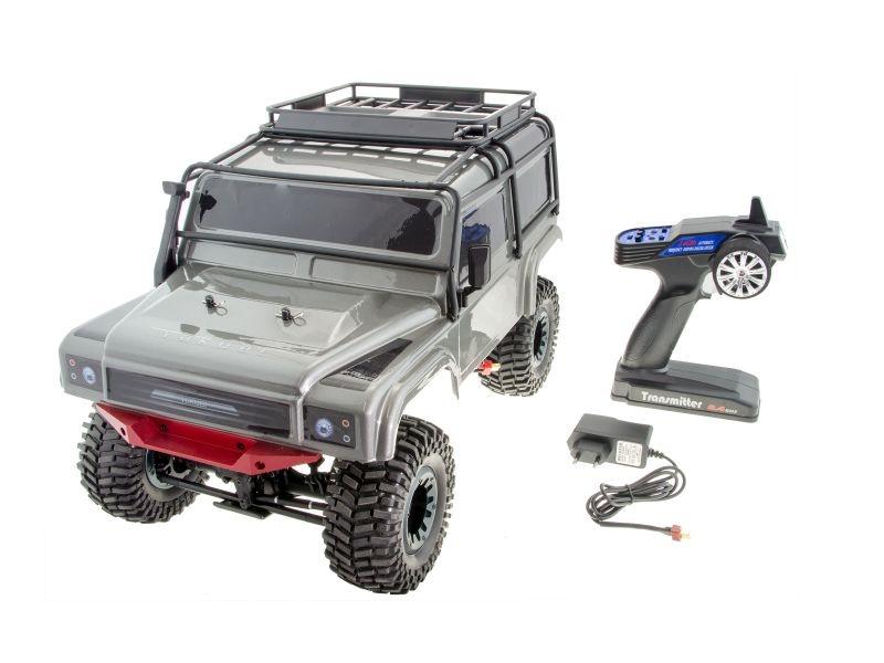Yakubi Sakai 1/10 Crawler 4WD 2,4GHz RTR in Alu silber