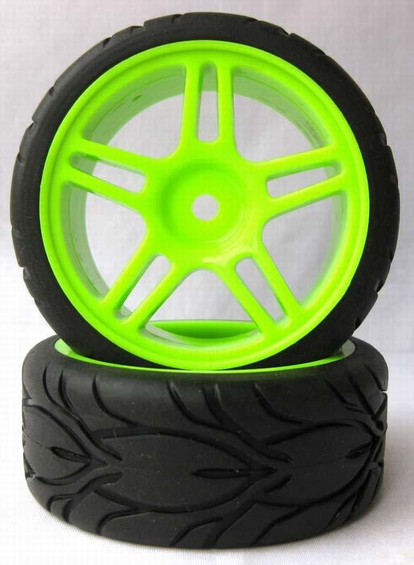 Tourenwagen Räder 1:10 (2 St) grün 63mm