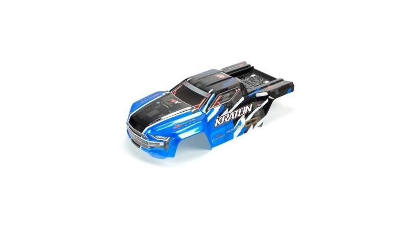 Karosserie blau lackiert für Kraton mit Aufklebern